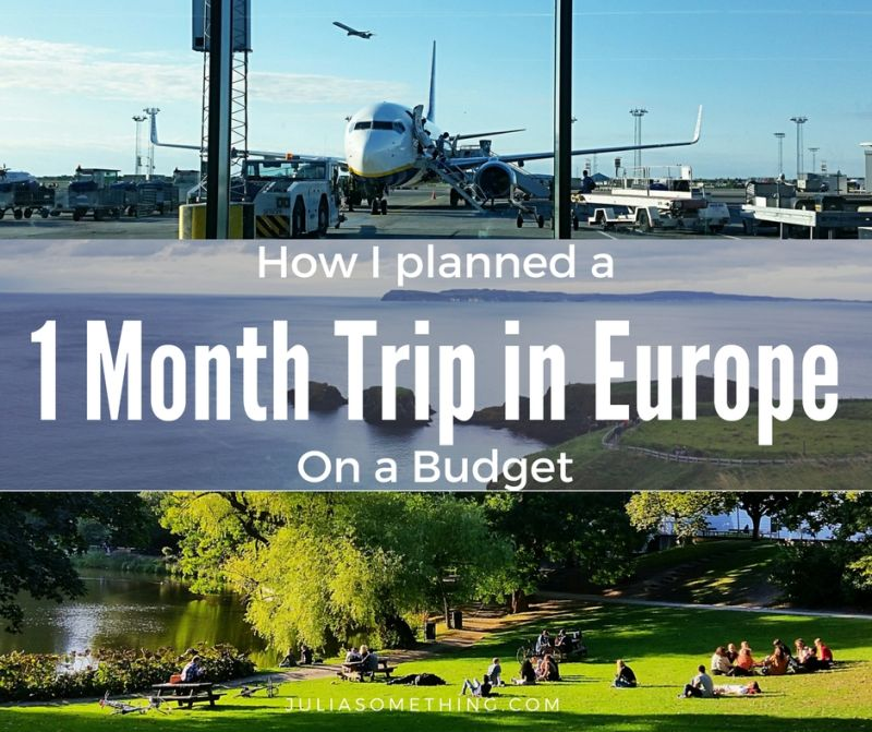 How I planned a 1 Month Trip in Europe on a Budget